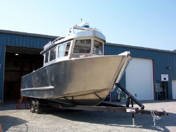 31 Ft Flush Deck Orca Workboat 716 Aluminum Boat