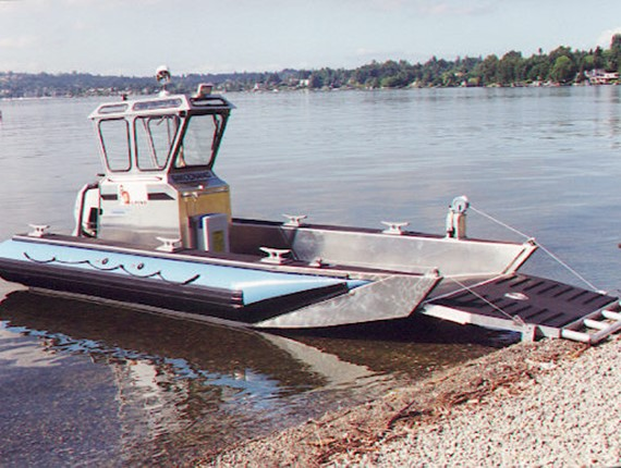 22 FT Harbor Workboat (1710)   Aluminum Boat Plans & Designs by Specmar