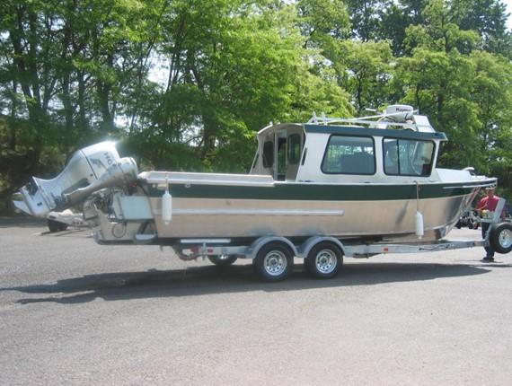 24 ft sitka forward slope cabin 1133 aluminum boat for Boat cabin plans