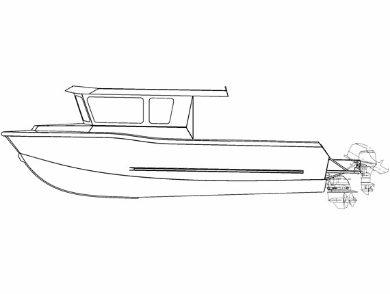 28 FT Diesel Orca (1638) | Aluminum Boat Plans & Designs by Specmar