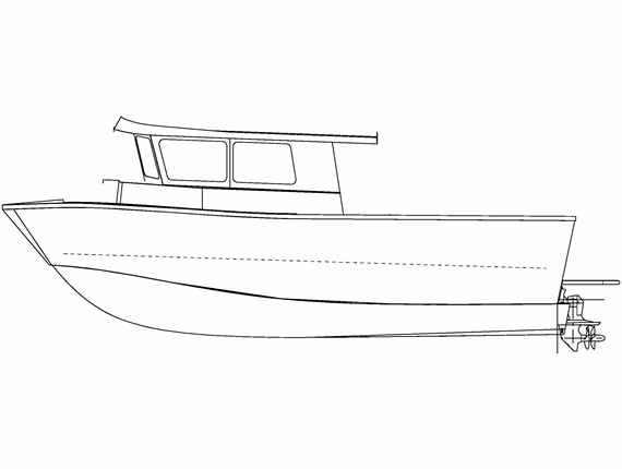 31 FT Diesel Orca (807) | Aluminum Boat Plans & Designs by Specmar