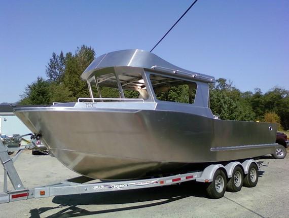 26 FT Orca, surface piercer drive (1305) | Aluminum Boat ...