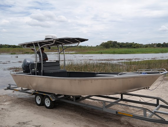 25 FT outback design (plan) is a pram bow, light weight utility skiff ...