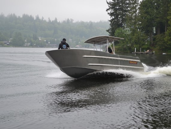 28 FT Flush Deck Orca Work Boat (701) | Aluminum Boat Plans & Designs by Specmar