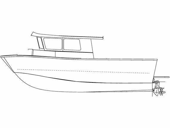31 FT Diesel Orca (807) | Aluminum Boat Plans & Designs by Specmar